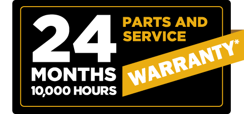 Cat Certified Rebuild 24 Months, 10000 hours parts and service warranty coverage