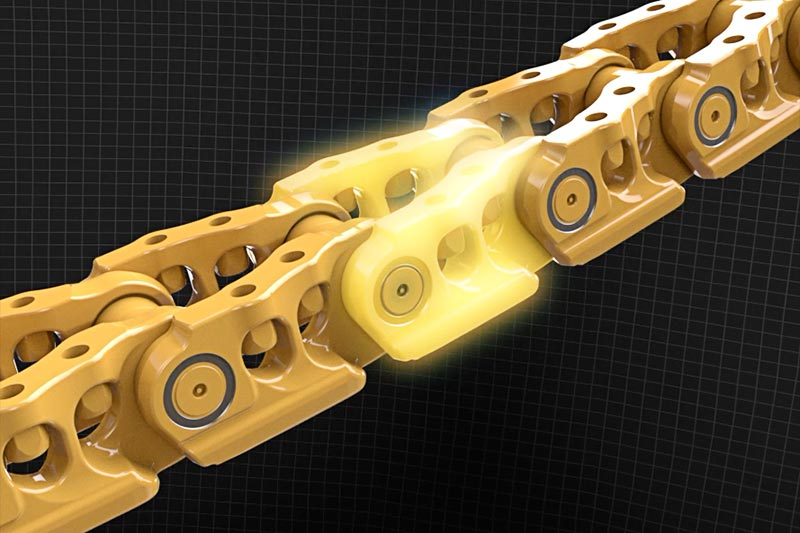 Cat HDXL undercarriage all new crowned link design