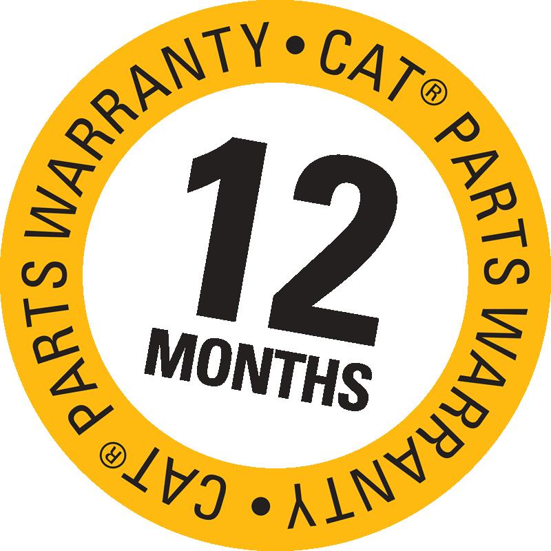 12 months Cat parts warranty